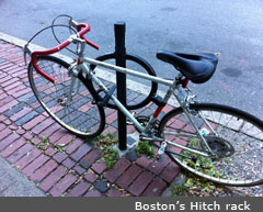 Boston's hitch rack