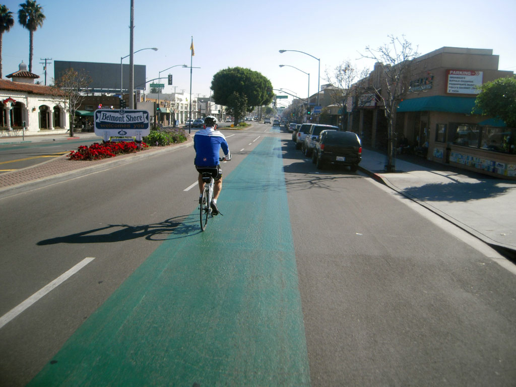Riding The Sharrows In Belmont Shore