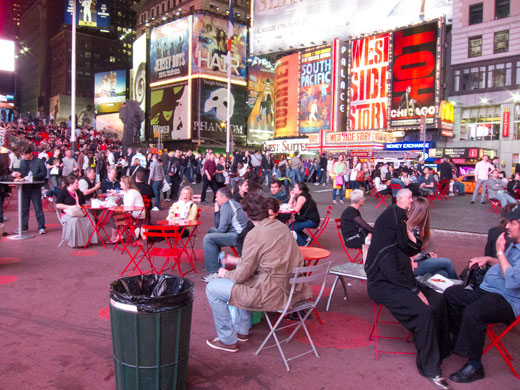 Today pedestrians rule in Times Square