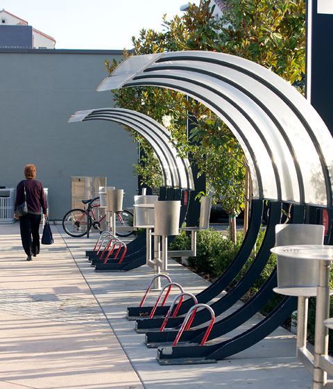 Bike parking with style in Palo Alto – designed by Jeff Selzer
