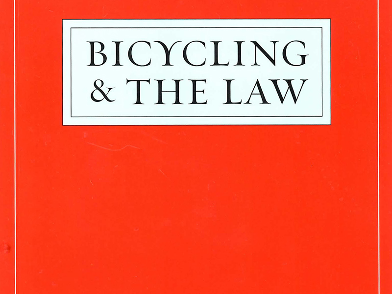 Bob Mionske, Bicycling and the Law