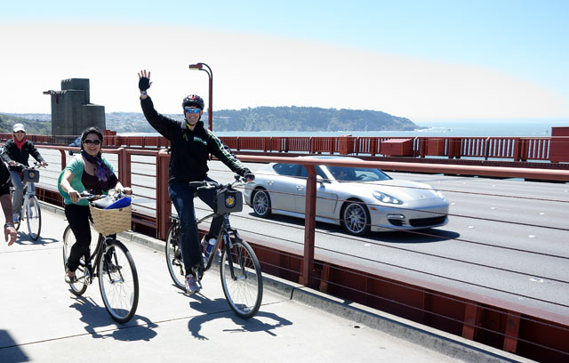 Tania Lo and Jeff Miller on the Golden Gate Bridge