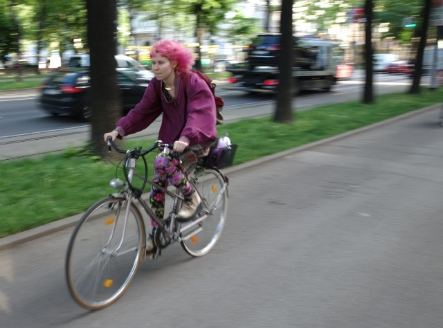 Almost everyone is a utility cyclist; there's not much Lycra to be seen.