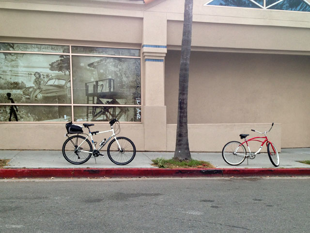 Most days Starbucks could use a lot of bike racks and the good news is – there's a lot of red curb here