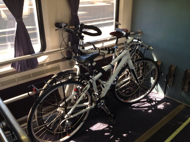 Bikes On The AMTRAK Surfliner