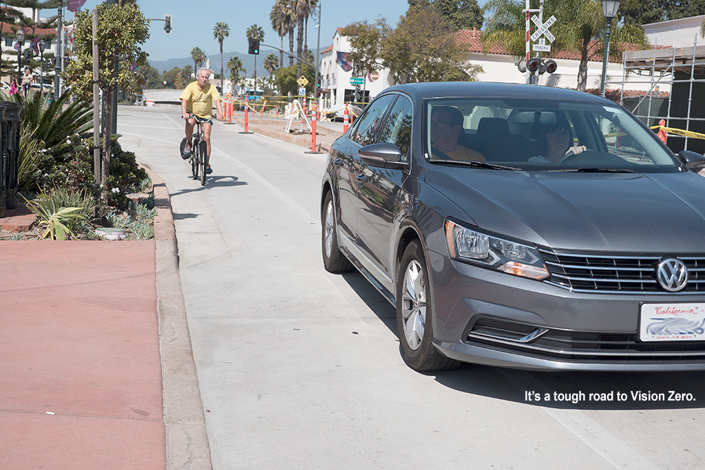 Tourist motorists and tourist cyclists – what could go wrong?