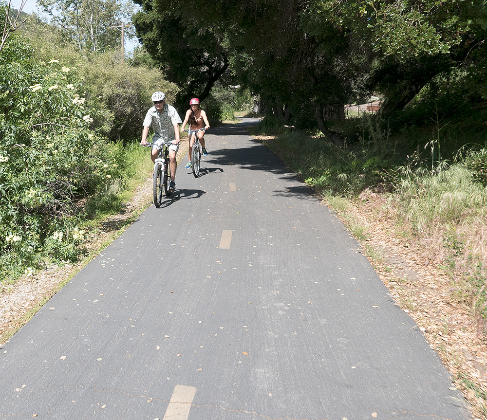 Fellow cyclists on The Bob Jones Trail