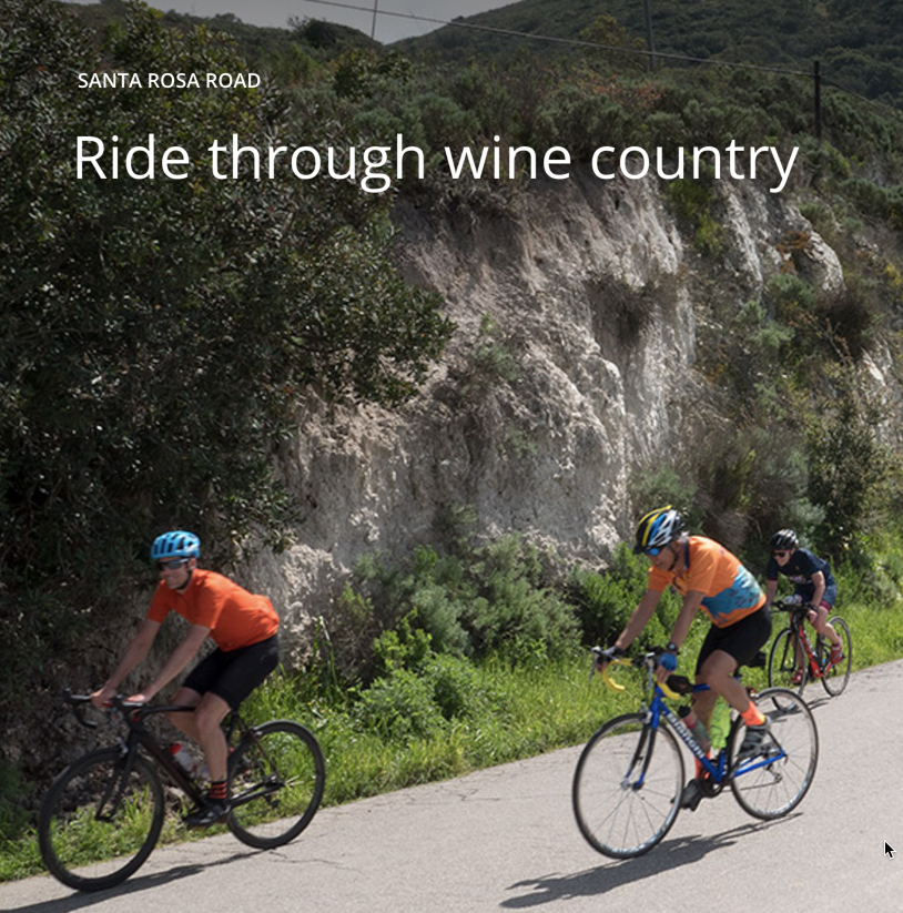 The Santa Ynez Valley could be the biggest beneficiary of a successful bike tourism promotion.