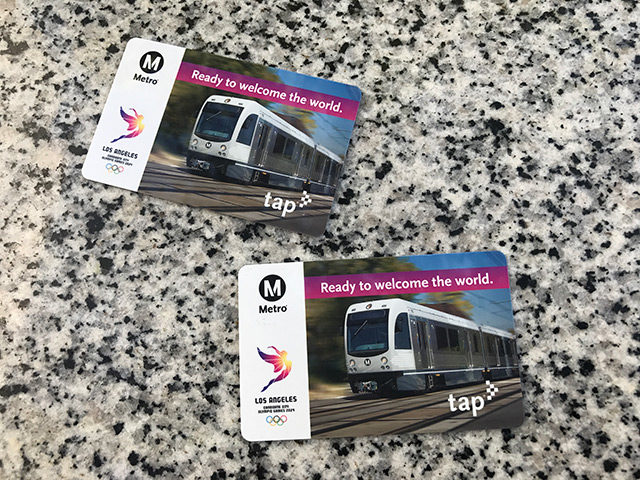 Metro TAP cards for two