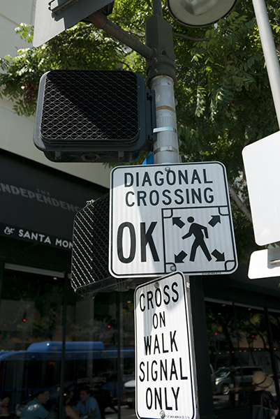 Diagonal crosswalks move pedestrians safely and efficiently